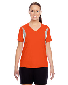 Sport Orange Ladies' Short-Sleeve V-Neck All Sport Jersey