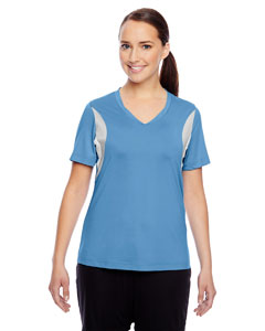 Sport Light Blue Ladies' Short-Sleeve V-Neck All Sport Jersey