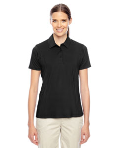 Black Ladies' Charger Performance Polo
