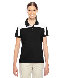 Black/white Ladies' Victor Performance Polo