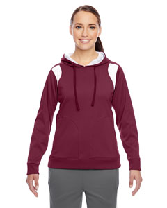 Sp Maroon/wht Ladies' Elite Performance Hoodie