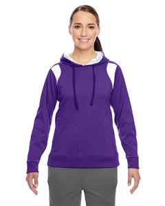 Sp Purple/wht Ladies' Elite Performance Hoodie