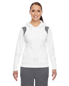 Wht/sp Graphite Ladies' Elite Performance Hoodie