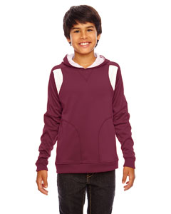 Sp Maroon/wht Youth Elite Performance Hoodie