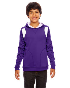 Sp Purple/wht Youth Elite Performance Hoodie