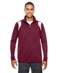 Sp Maroon/wht Men's Elite Performance Quarter-Zip