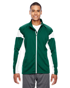 Sp Forest/wht Men's Elite Performance Full-Zip