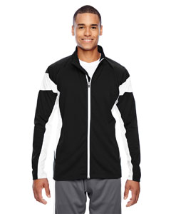 Black/white Men's Elite Performance Full-Zip