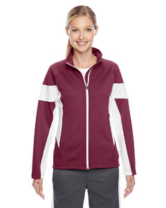 Sp Maroon/wht Ladies' Elite Performance Full-Zip