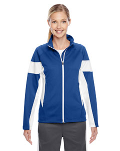 Sp Royal/wht Ladies' Elite Performance Full-Zip