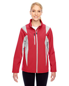Sp Red/sp Silver Ladies' Icon Colorblock Soft Shell Jacket