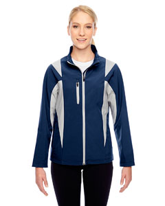 Sp Dk Nvy/sp Sil Ladies' Icon Colorblock Soft Shell Jacket