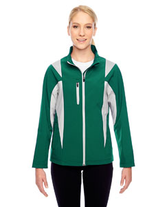 Sp Forest/sp Sil Ladies' Icon Colorblock Soft Shell Jacket