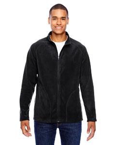 Black Men's Campus Microfleece Jacket