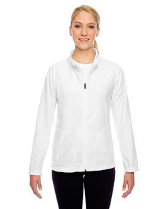 White Ladies' Campus Microfleece Jacket