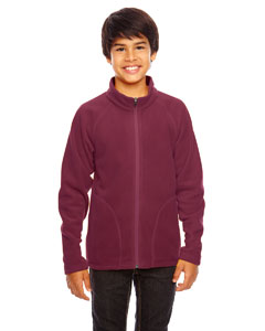 Sport Maroon Youth Campus Microfleece Jacket