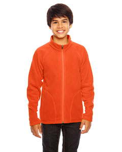 Sport Orange Youth Campus Microfleece Jacket