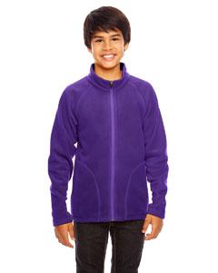 Sport Purple Youth Campus Microfleece Jacket