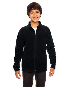 Black Youth Campus Microfleece Jacket