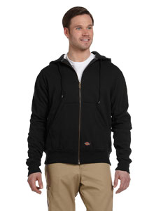 Black Thermal-Lined Fleece Jacket