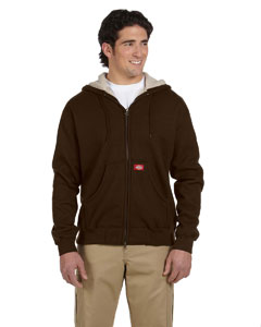 Dark Brown 10.75 oz. Bonded Waffle-Knit Hooded Jacket