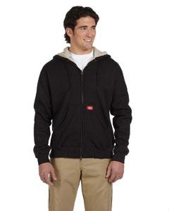 Black 10.75 oz. Bonded Waffle-Knit Hooded Jacket