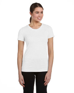 White Hthr Trblnd Women's Performance Triblend Short-Sleeve T-Shirt