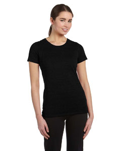 Solid Black Trblnd Women's Performance Triblend Short-Sleeve T-Shirt