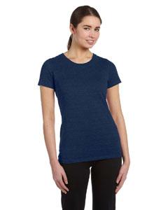 Navy Hthr Trblnd Women's Performance Triblend Short-Sleeve T-Shirt