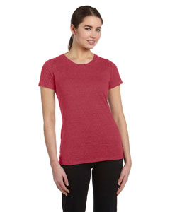 Red Hthr Trblnd Women's Performance Triblend Short-Sleeve T-Shirt