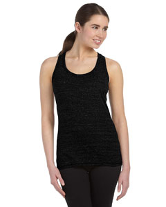 Solid Black Trblnd Women's Performance Triblend Racerback Tank