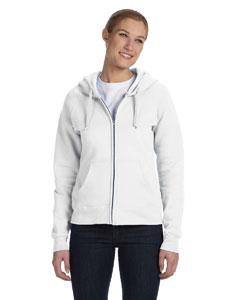 White Women's 8 oz., 80/20 ComfortBlend® EcoSmart® Full-Zip Hood
