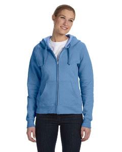 Carolina Blue Women's 8 oz., 80/20 ComfortBlend® EcoSmart® Full-Zip Hood