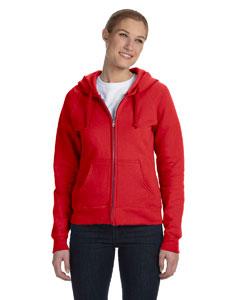 Deep Red Women's 8 oz., 80/20 ComfortBlend® EcoSmart® Full-Zip Hood
