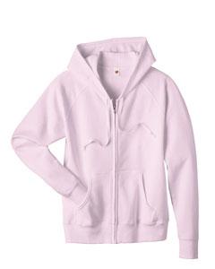 Pale Pink Women's 8 oz., 80/20 ComfortBlend® EcoSmart® Full-Zip Hood