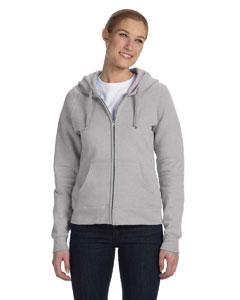 Light Steel Women's 8 oz., 80/20 ComfortBlend® EcoSmart® Full-Zip Hood