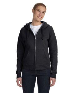 Black Women's 8 oz., 80/20 ComfortBlend® EcoSmart® Full-Zip Hood
