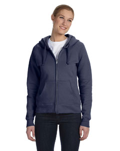 Deep Navy Women's 8 oz., 80/20 ComfortBlend® EcoSmart® Full-Zip Hood