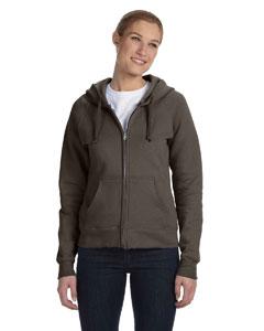 Dark Chocolate Women's 8 oz., 80/20 ComfortBlend® EcoSmart® Full-Zip Hood