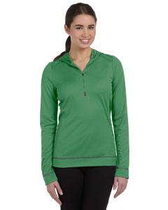 Leaf/slate Women's 1/2 Zip Long-Sleeve Hoodie