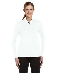 White Women's 1/4 Zip Lightweight Pullover