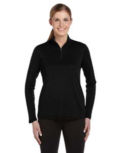 Black Women's 1/4 Zip Lightweight Pullover