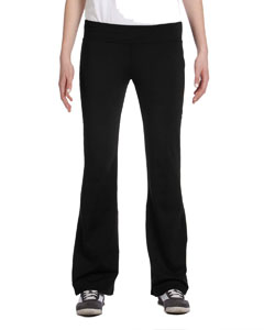 Black Women's Solid Pant Tall